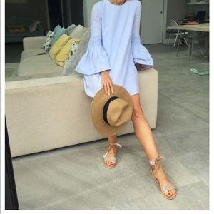 Zara -Poplin-Jumpsuit-Dress-Sky-Blue